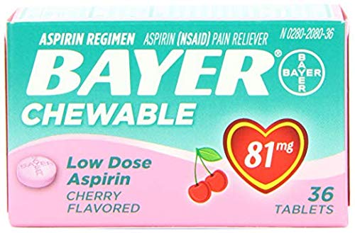 Aspirin Baby (Bayer Chewable Low Dose Baby  Aspirin Cherry  81 Mg 36-Count (Pack of 3))