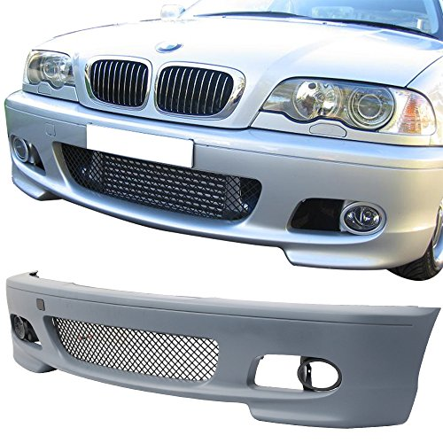 00-2006 BMW E46 3 Series | Polypropylene PP Unpainted Black Cover Guard Protection Conversion OE Replacement Exterior by IKON MOTORSPORTS | 2001 2002 2003 2004 2005 ()
