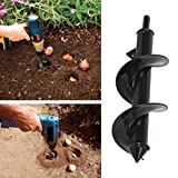 Thethan Garden Auger Spiral Drill Bit Accessories for Planting Bedding Bulbs Seedlings