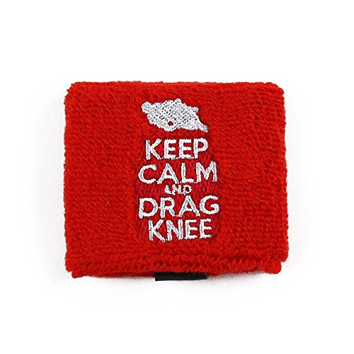 Keep Calm Drag Knee Rear Brake or Clutch Reservoir Covers by Reservoir Socks for Motorcycles, Sportbikes