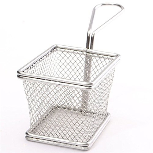 Home Product Stainless Steel Fryer Serving Food Presentation Basket Kitchen French Fries Festive Party Supplies