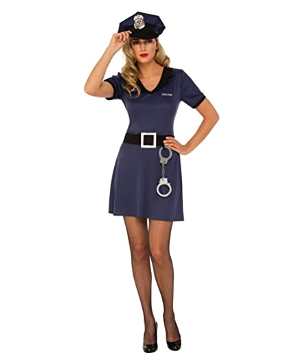 Horror-Shop Vestido de Disfraz de Mujer policía con ...