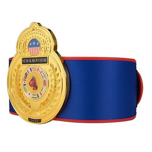 Boxing Title Belt (TITLE Boxing Old School Championship Belt, Blue)