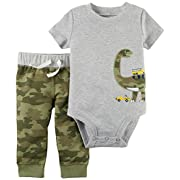 Carter's Baby Boys' 2 Pc. Dinosaur Bodysuit and Pants Set 12 Months