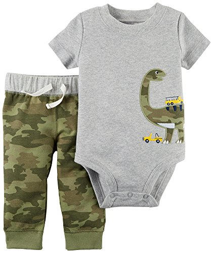 Carter's Baby Boys' 2 Pc. Dinosaur Bodysuit and Pants Set 9 Months