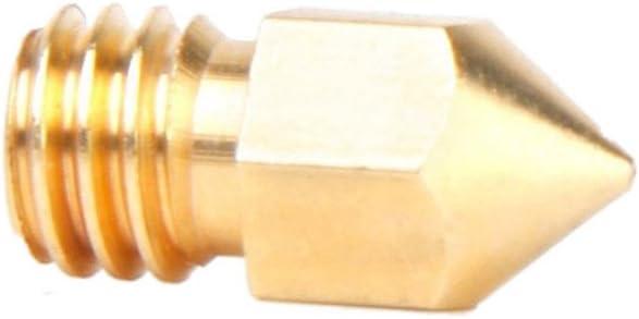 Nrpfell Buse de Tete d en cuivre de 0.2mm pour limprimante de MakerBot MK8 RepRap 3D Tete de buse en cuivre dimprimante 3D