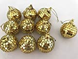 18 Piece 2 Inch Disco Ball Mirror Party Christmas Xmas Tree Ornament Decoration,Gold