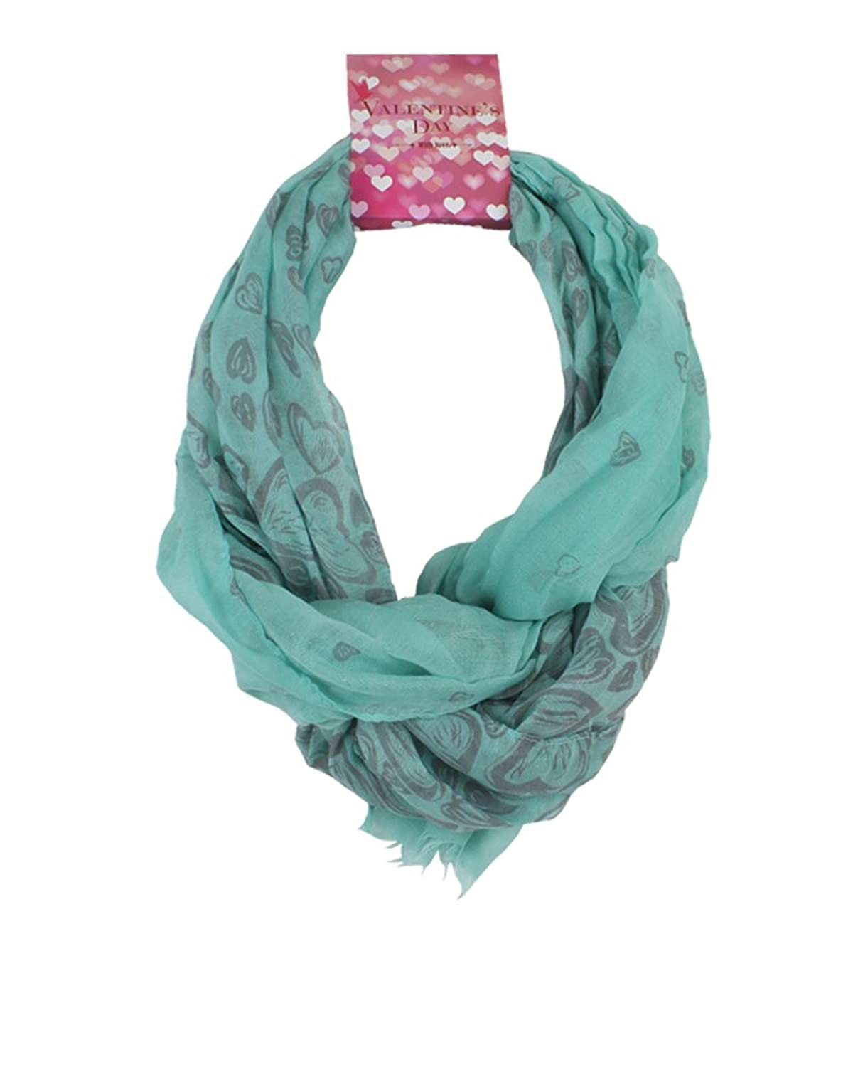 David & Young Women's Two Tone Hearts Pop Scarf