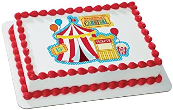 Carnival Edible Cake Topper Decoration