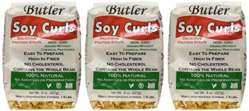 Stir Marinade Fry (Butler Soy Curls, 8 oz. Bags (Pack of 3))