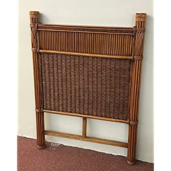 Wicker Paradise GQN139 Barbados Rattan Headboard, Twin