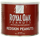 Royal Oak Gourmet Virginia Redskin Peanuts, 40-Ounce Tin (Pack of 4)