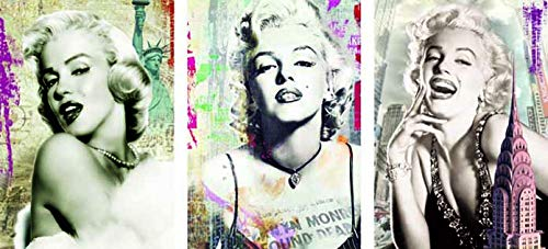 Vintage Marilyn Monroe 3D Poster Wall Art Decor Print | 11.8 x 15.7 | Lenticular Posters & Pictures | Memorabilia Gifts for Guys & Girls Bedroom | Celebrity Movie Icon Fan Room Picture & Decorations