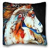 Tarolo Decorative Native American Indians Horse Pillowcase...