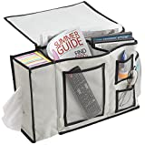 FloridaBrands Bedside Storage Organizer - 8 Pocket Bedside Caddy and Nightstand or Couch Cabinet Storage Organizer for Books, Phones, Tablets, Accessories, TV Remote and More by