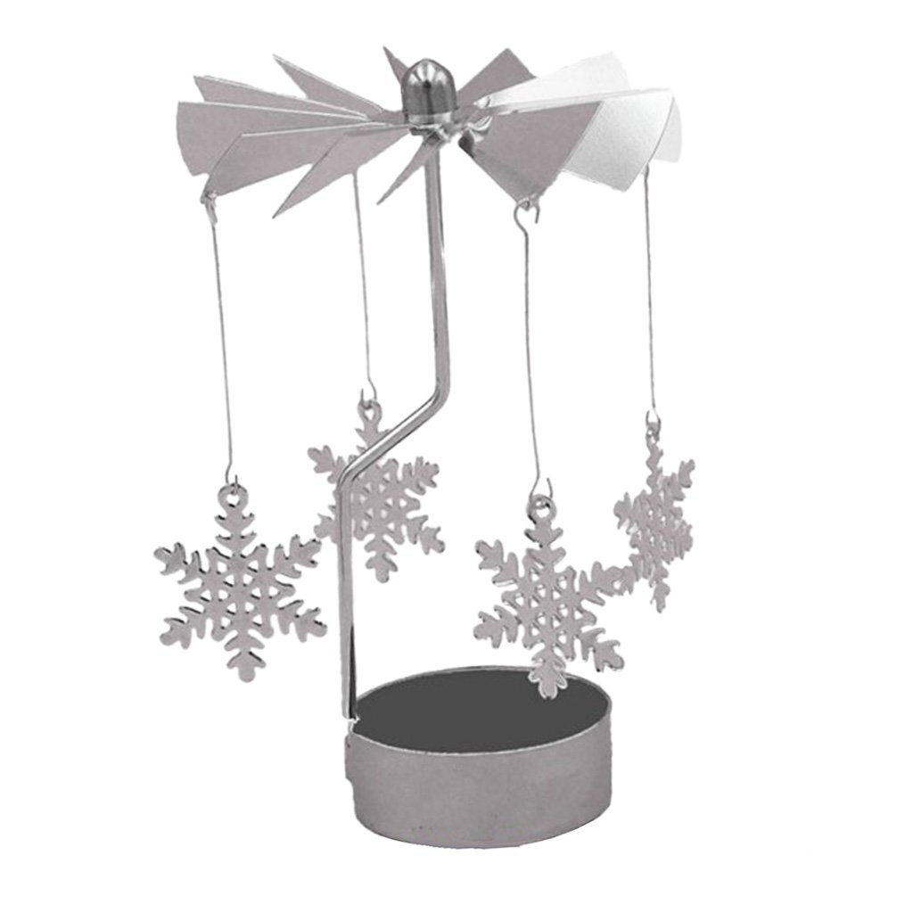 MagiDeal Rotary Candelabra Candle Holder Wedding Events Dinner Tabletop Centerpieces - Rose non-brand