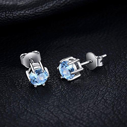 Jewelrypalace Ametista 925 Stud Blue Donna Sterling Peridotite Lusso Naturale Bianco A E Giallo Orecchini Granato Oliva Perno Topazio Azzurro Rosso Gioiello 5mm Viola Argento Citrino rwrXCqg
