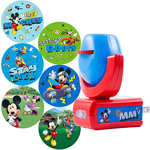 Projectables Mouse & Roadster Racers LED Night Light Projector, Plug-in, Dusk-to-Dawn Sensor, See Disney Characters on Ceiling, Wall, or Floor, 11739, Mickey Mouse | 6-Image