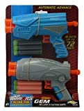 ultra gem - Air Warriors Ultra-Tek Gem 2-pack blasters with long distance darts by Buzz Bee Toys