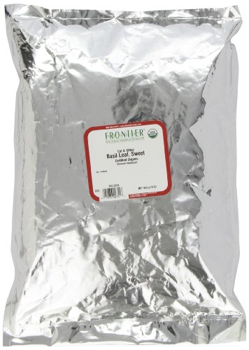 Frontier Basil Leaf, Sweet-domestic, C/s Certified Organic, 16 Ounce Bag by Frontier
