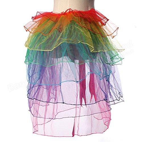 Bazaar Girls Rainbow Tutu Dress Sexy Puff Skirt Tail Party Cosplay Club Dress by Big Bazaar (Image #3)