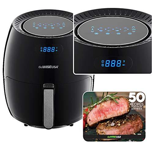 GoWISE USA Digital Air Fryer (Black (Duo-5.8-QT))