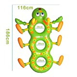 Inflatable Ride-on Large Pool Floating Inflated Caterpillar Swimming Ring Children Summer Outdoor Fun Water Toys Party Supplies