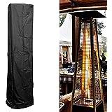 JY&WIN Veranda de jardín Calentadores de Patio Toldo Terraza Cubierta de Polvo Calentador Exterior Protector de Muebles a Prueba de Agua Negro 221 * 53 * 61 cm