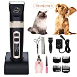 [2018 New Version]Pet-Pro Pet Clipper Dog Grooming Kit for Dogs Cats and Other Pets Long or Short Hair Professional...