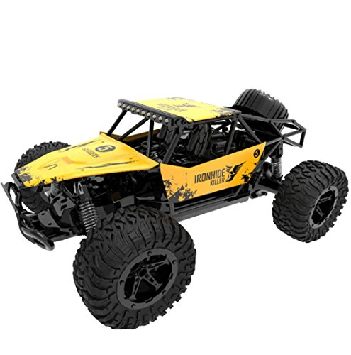Witspace 1:16 2WD High Speed RC Racing Car Remote Control Truck Off-Road Buggy Toys (Yellow) (2wd Old Body)