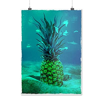 Underwater Pineapple Sea Fruit Matte/Glossy Poster A0 A1 A2 A3 A4 | Wellcoda
