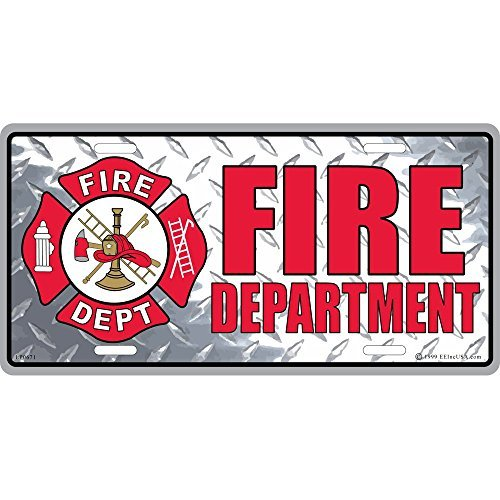 Fire Department License Plate, Gifts for Firemen and Firewomen First Responders ()