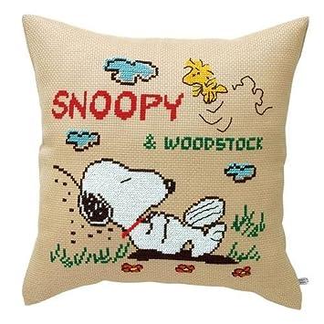 Amazon.com: 6019 Kit de bordado Cojín Snoopy siesta ...
