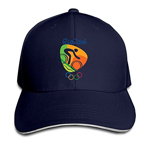 AmFUN Mountain Bike Logo Rio Olympics 2016 Adjustable Snapback Peaked Cap Baseball Hats Navy ()