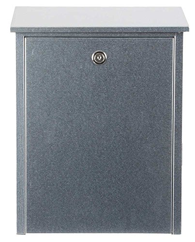 Qualarc ALX-200-GAL Series Mailboxes Allux 200 Wall Or Post Mount Locking Steel, Galvanized by Qualarc