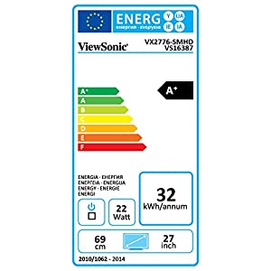 "ViewSonic VX2776-SMHD 27"" IPS 1080p Frameless LED Monitor HDMI, DisplayPort"