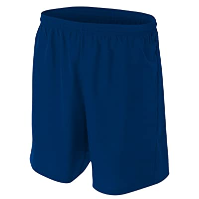 A4 Big Boys' Lightweight Woven Soccer Shorts, Medium, Navy