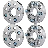 ECCPP 4 lug Wheel Spacers hubcentric 20mm 4X 4x100mm to 4x100mm for Honda CRX Prelude 2006-2010 Honda Fit with 12x1.5 Studs