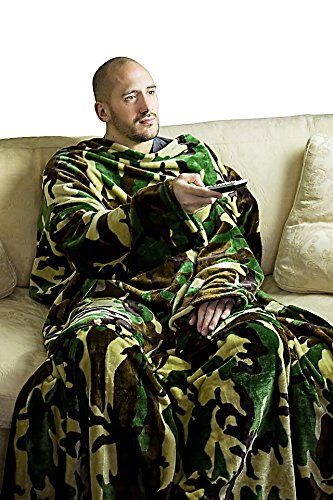 Large-Supersoft-Camouflage-Fleece-TV-Blanket-with-Sleeves