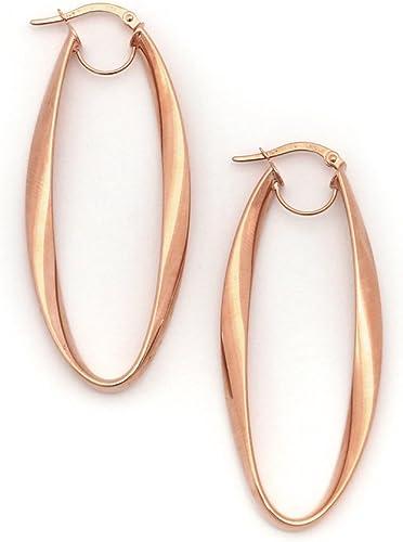 55mm Snap Hoop Earrings 14 Karat Yellow Gold Filled 2.2 Inch