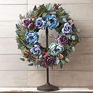 BrylaneHome Midnight Mist Wreath 36