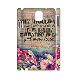 Qxhu Florida Georgia Line Quote patterns Hard Plastic Back Protective case for Samsung galaxy Note3 N9000 3D case