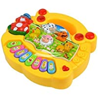 Amitasha Baby Farm Animal Piano with Real Animal Sound, LED Flash Light ( Design & Color As per Availability )
