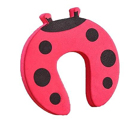 5pcs engrosamiento de seguridad Tope de la puerta Finger Pinch Guard Colorido Animal de la historieta espuma de la puerta Stop Cojín para bebé/niños ...
