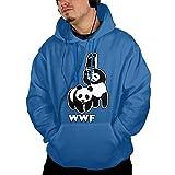 Men's Hoodie Sweatshirt With Pockets WWF Funny Panda Bear Wrestling Fleece Hoodie Jackets