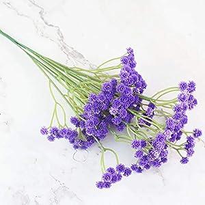lasenersm 21 Pieces Artificial Baby's Breath Artificial Gypsophila Flowers Artificial Flowers DIY Home Garden Wedding Decoration White Pink Purple 6