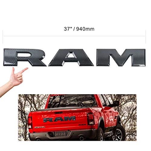 3D Carbon Fiber RAM Emblem Tailgate Badge for Dodge Ram (Carbon Fiber)