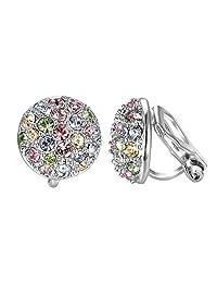 2dd9fe6e3 Yoursfs Bridal Wedding Clip on Earrings Crystal Rhinestones Paved Non  Pierced Earrings for Women