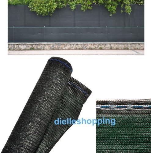 Malla de sombreo, 90% de ocultación, 4 x 10 m, tela verde oscura, para uso en jardín: Amazon.es: Jardín