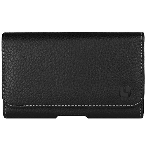 Executive Leatherette Holster Case for BlackBerry Classic, BlackBerry Z10, BlackBerry Porsche Design P'9982 with SumacLife Wristband, Black